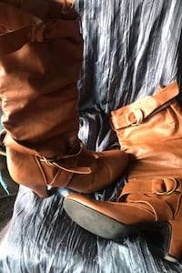 Faux leather boots size 9