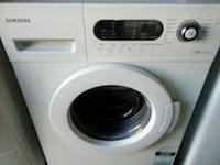 white Samsung front-load washer Perth, 6000