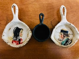 Cast Iron Pot and Pans. Heavy Amish Miniatures.
