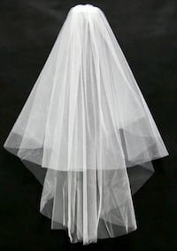 2 Tier Off White Wedding Bridal veil shoulder Length Veil with comb Alexandria, 22304