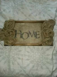 Burlap Home Sign Independence, 50644