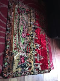 Antique Italian throw carpet or wall hanging