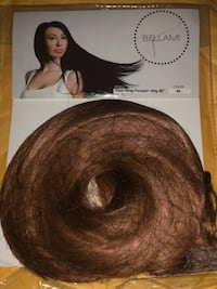 BELLAMI- PICCOLINA CHOCOLATE BROWN CLIP IN HAIR EXTENSIONS+ PONYTAIL