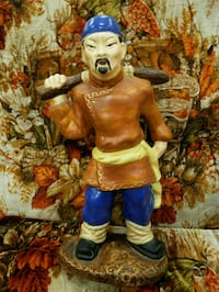 Antique Asian man hand painted 1959 Gerry Turley Provo