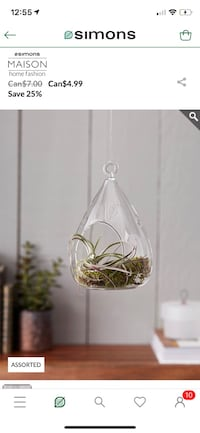 TEARDROP GLASS FOR MINI HANGING GARDEN Mississauga, L5R 3S8