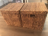 2 wicker cube storage boxes West Hollywood, 90069