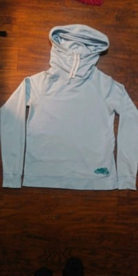 $10$ ROOTS Cowl-Neck Sweater With Hood Blue(SizeM) Ajax