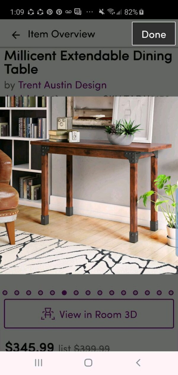 Convertible Dining Table With Extra
