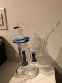 Hoss Glass double honeycomb perc with built in ash-catcher 9mm QUALITY glass bong Mississauga, L5B 0J7