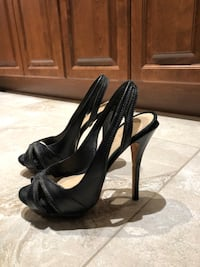 L.a.m.b black leather heels, size 8 Montréal, H1R 2B6