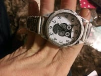 round silver-colored chronograph watch with link bracelet Laurens, 29360