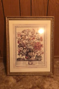 Flower Bouquet Picture Framed