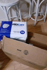 A case of 18 x 4 ProCare large adult Briefs in box