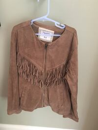 Girls size 16 Abercrombie suede like jacket Centreville, 20120