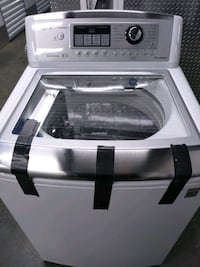 LG glass top. Washer extra large capacity for comforters and clothes