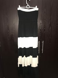 women's black and white stripestrapless maxi dress 1489 mi