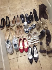 Women's assorted pairs of shoes Kelowna