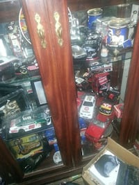 Tons of NASCAR stuff with China  cabinet