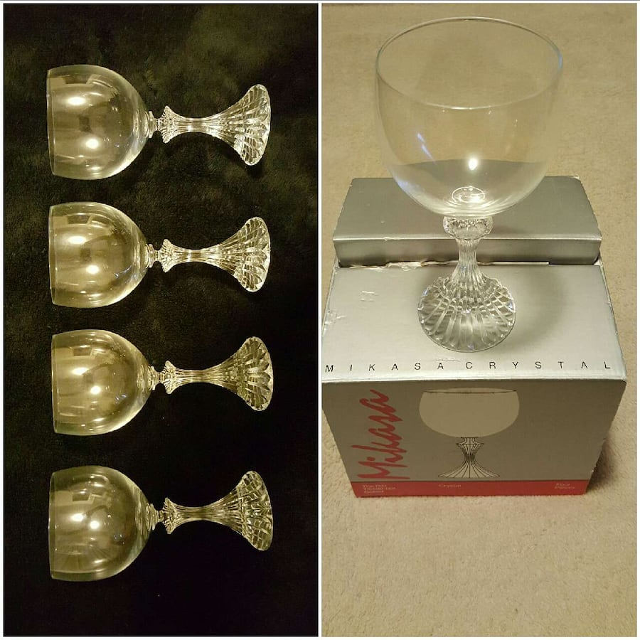 Mikasa The Ritz TS400/001 4 pc Goblet Set 321553dd-2165-42e7-ab0d-4267d4364e61