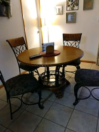 Solid wood and Rod Iron Table and 4 Chairs Oxnard, 93036