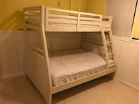 white wooden bunk bed with mattress Damascus, 20872