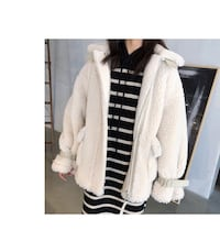 Teddy bear coat (size S-M Ivory)