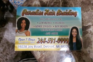 Paradise hair braiding