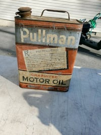 Vintage 2 gallon oil can. Full Winchester, 22602