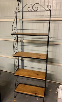 Black Wrought Iron Bakers Rack