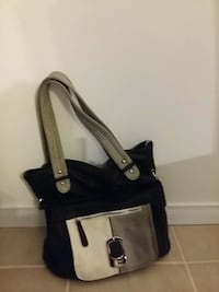 black and grey leather tote bag Montréal, H1A 3Y4
