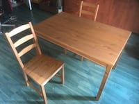 Table +4 chaises Ikea jokkmokk Montreal, H1J 2X6