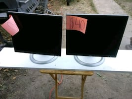 1 pair of matching Dell 20 inch LCD displays