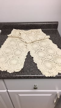 Two Beige Table Runners 56 Inches Each Covington, 41011