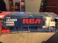 blue and white rca the leader home videon plastic freight truck toy Manheim Township, 17601