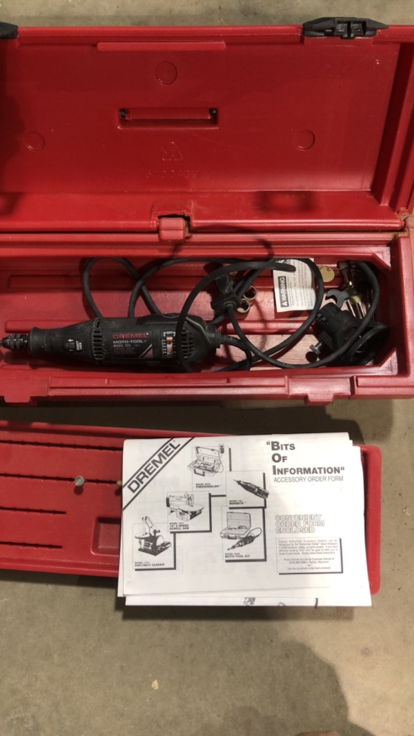 Dremel Tool with case and accessories