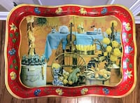 Reduced!! Antique Coca-Cola Metal Tray with Red Trim & Yellow Flowers Wilmington, 28411