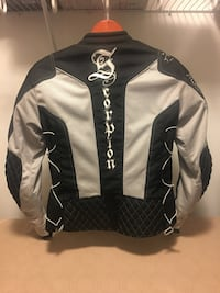 Women's medium black and gray scorpion motorcycle jacket Bowie, 20715