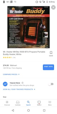 Heater portable propane