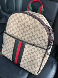white and gray Gucci backpack East Gwillimbury, L9N