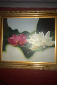 Painting floral with gold leaf frame Salem, 03079