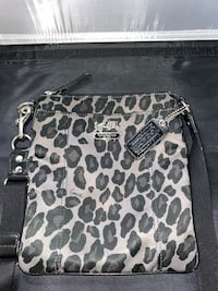 Coach gray Cheetah print satchel purse