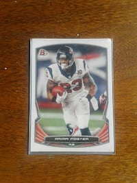 football player trading card with signature Austin, 78753