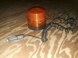 Magnetic mount amber strobe beacon warning light