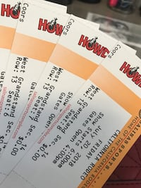 Rodeo tickets for Friday   Watsonville, 95076
