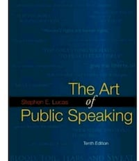 Used Book The Art of Public Speaking, 10th Edition Good Hope, 30641