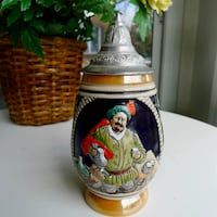 A Small & Classically Distinctive  West German DBGM Lidded Beer Stein Bethesda, MD, USA