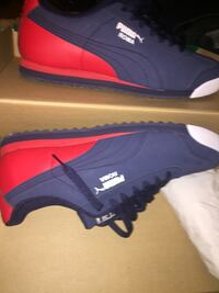 Pair of blue-and-red puma sneakers  Lakeland, 33803