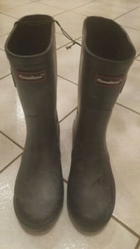 pair of black Hunter rain boots Toronto, M1B 5S3
