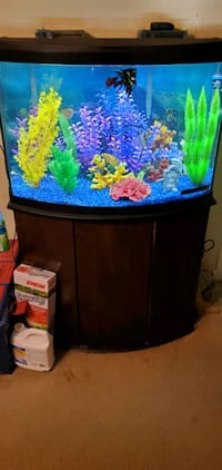 36 gallon fish tank with stand and all accessories Houston, 77076