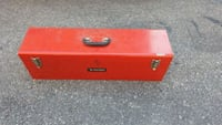 red and black tool box good condition, very nice.  Toronto, M6L 1A3